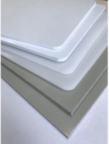 Листовой полиэтилен ПНД- 14*1500*3000 Белый-Натуральный