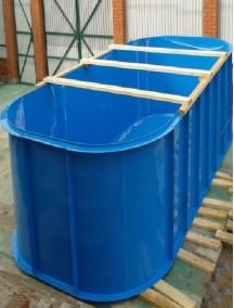 Бассейн для рыбы 4,0*2,5*1,5 -8 мм
