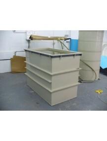 Гальваническая ванна- 1500*1000*1100 т.- 8 мм