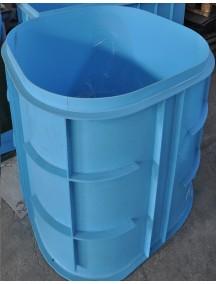 Купель для бани круглая диам. 1,1 м. глубиной 1,5 м. толщ 6 мм