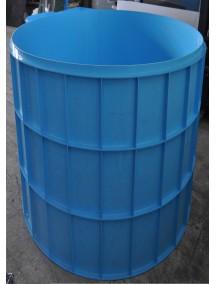 Купель для бани круглая диам. 1,0 м. глубиной 1,5 м. толщ 8 мм