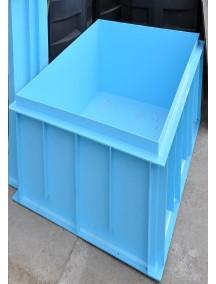 Купель для бани 1,1*1,3*1,5 м. (д*ш*г) 8 мм толщ
