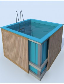 Купель для бани 1,1*1,2*1,5 м. (д*ш*г) 8 мм толщ