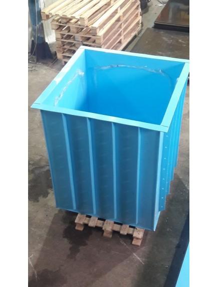 Купель для бани 1,1*1,0*1,5 м. (д*ш*г) 8 мм толщ