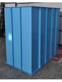 Купель для бани 1,1*1,2*1,5 м. (д*ш*г) 6 мм толщ