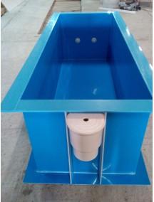 Купель для бани 2,5*2,5*1,5 м. (д*ш*г) 8 мм толщ